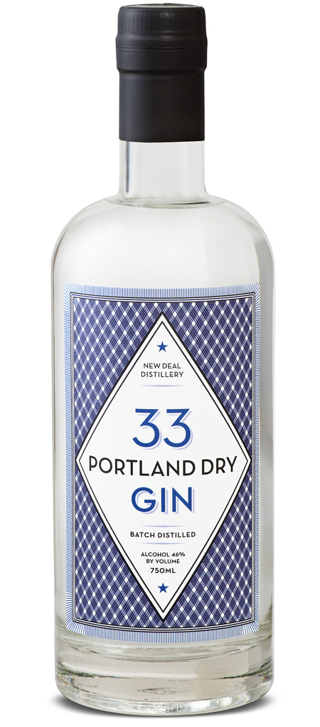 Portland Dry Gin 33 New Deal Distillery