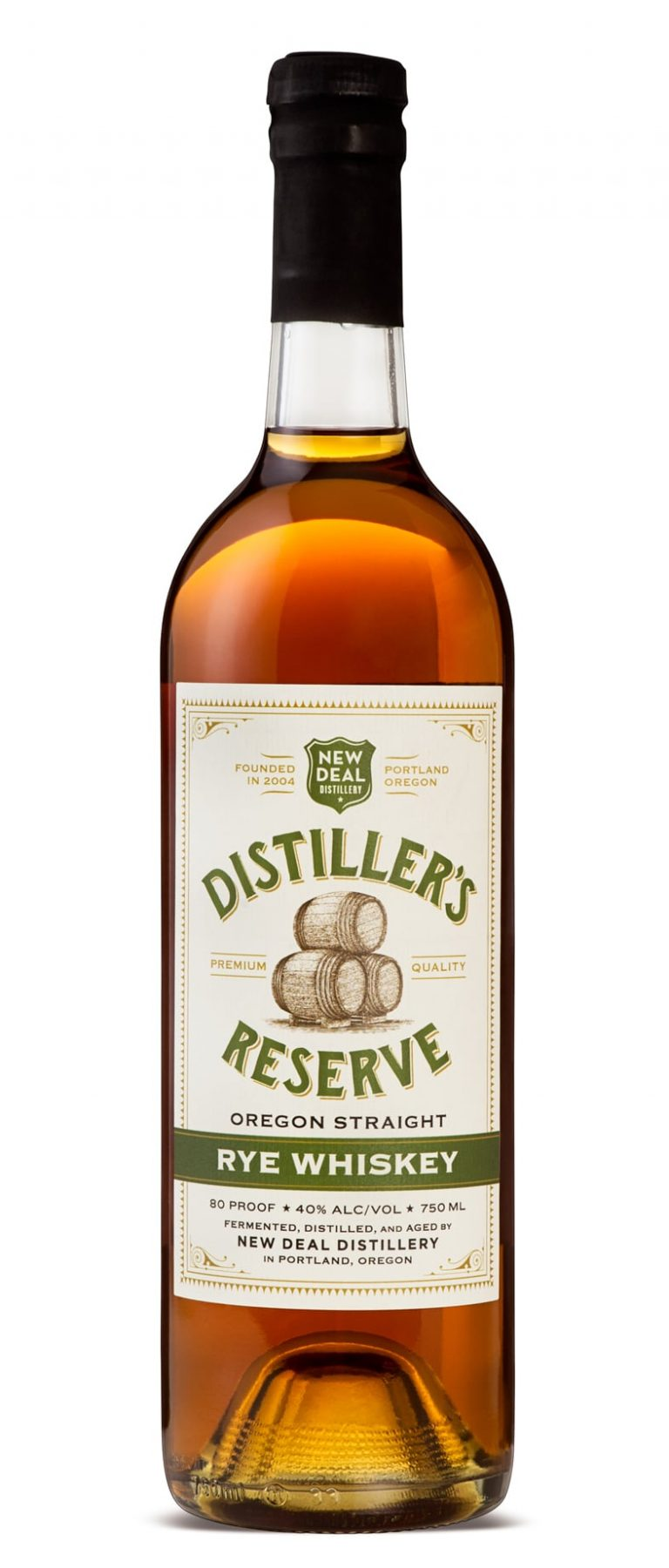 New Deal Distiller's Reserver Oregon Straight Rye Whiskey