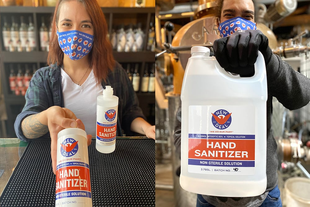 New Deal Hand Sanitizer Production