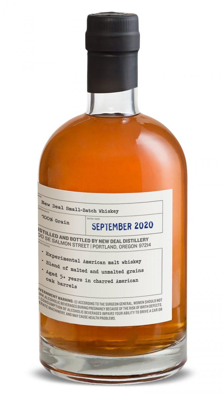 New Deal Small Batch Malt Whiskey September 2020