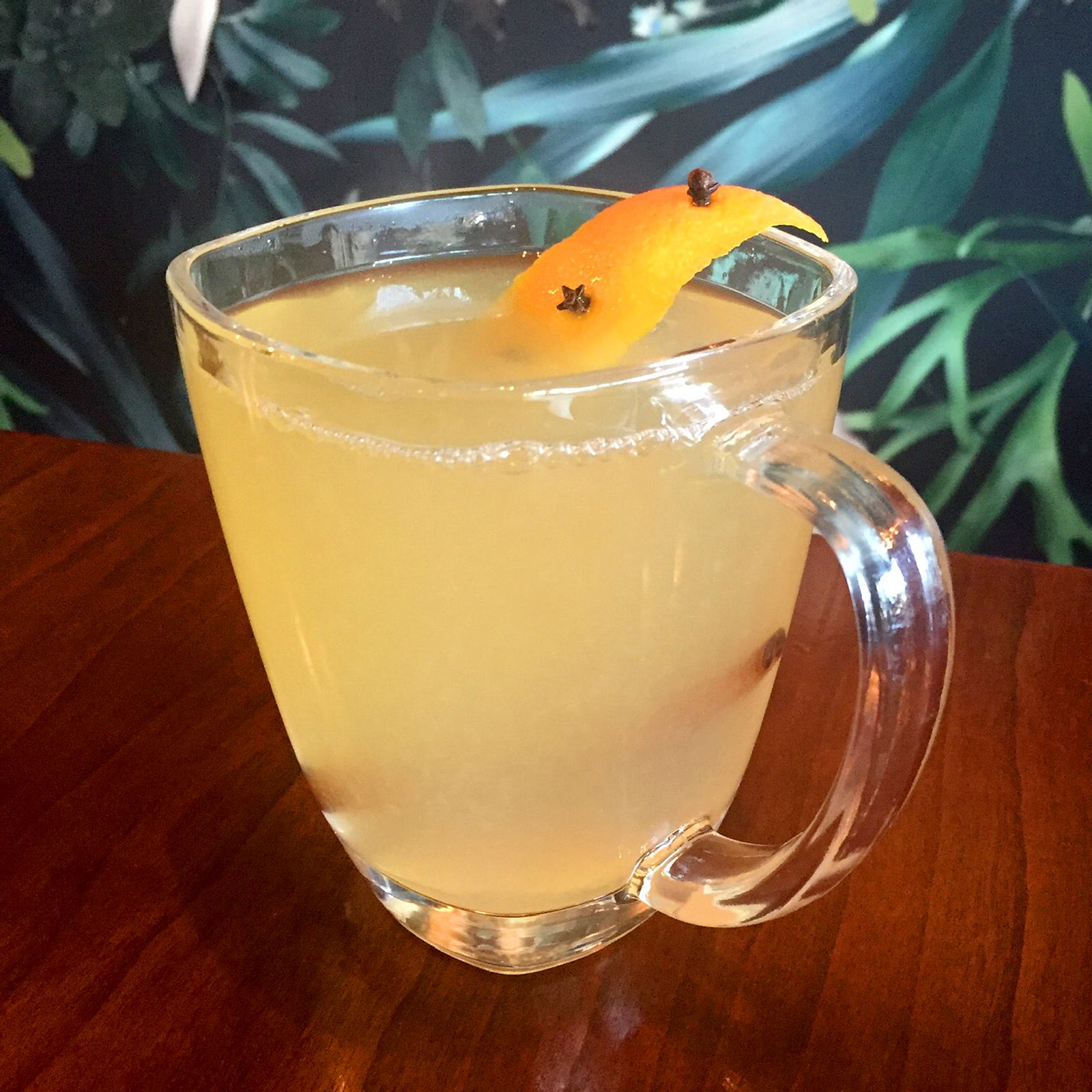 New Deal Pear Brandy Hot Toddy Cocktail