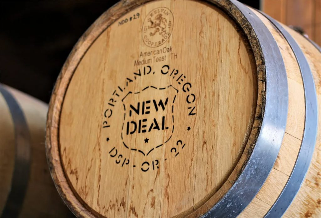 Bar and Bowtie Visit New Deal Distillery
