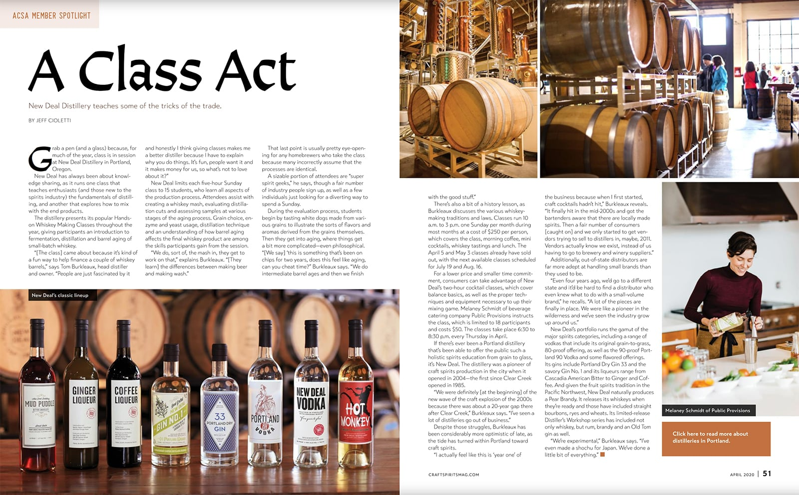 Craft Spirits Magazine – A Class Act