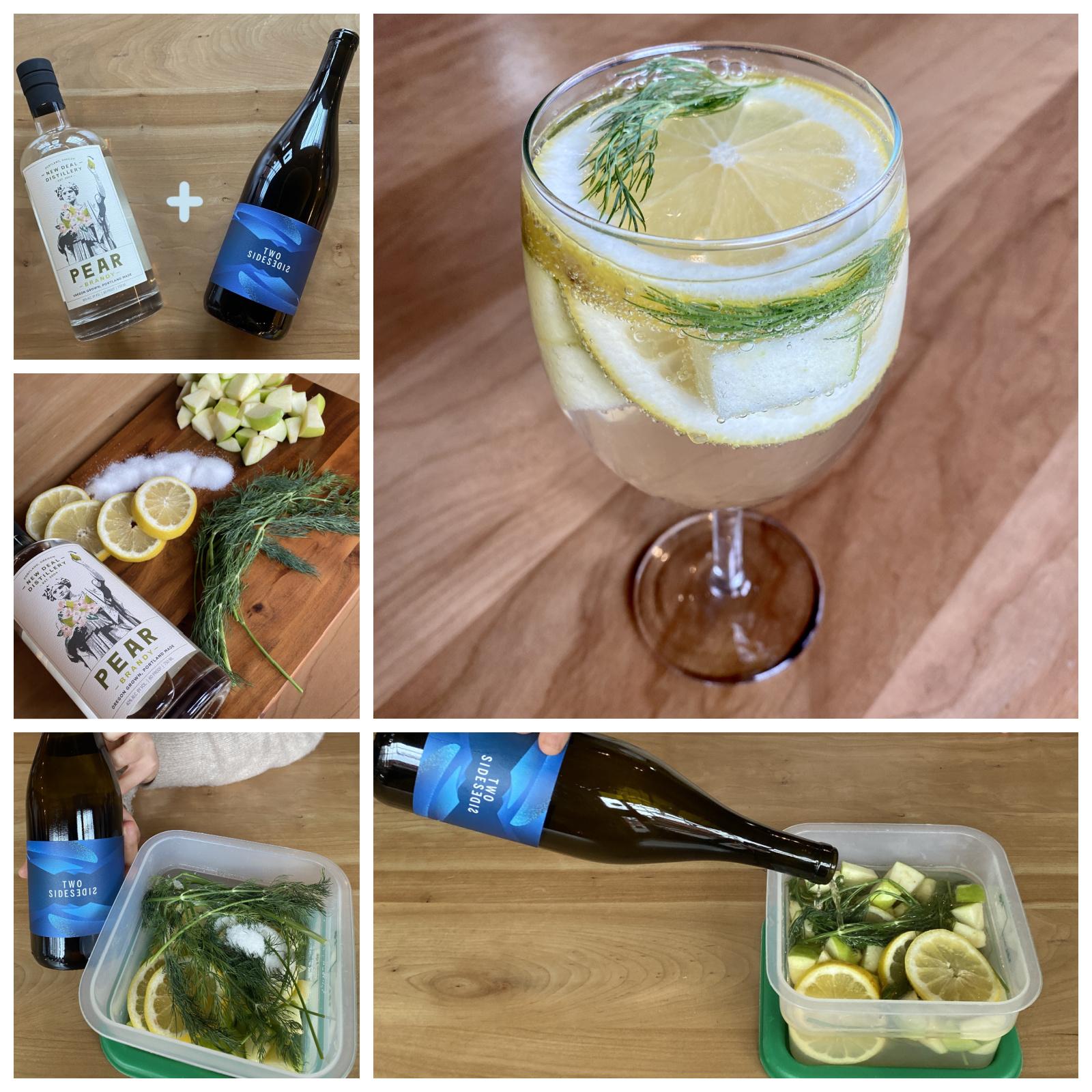 New Deal White Wine & Pear Brandy Sangria Recipe