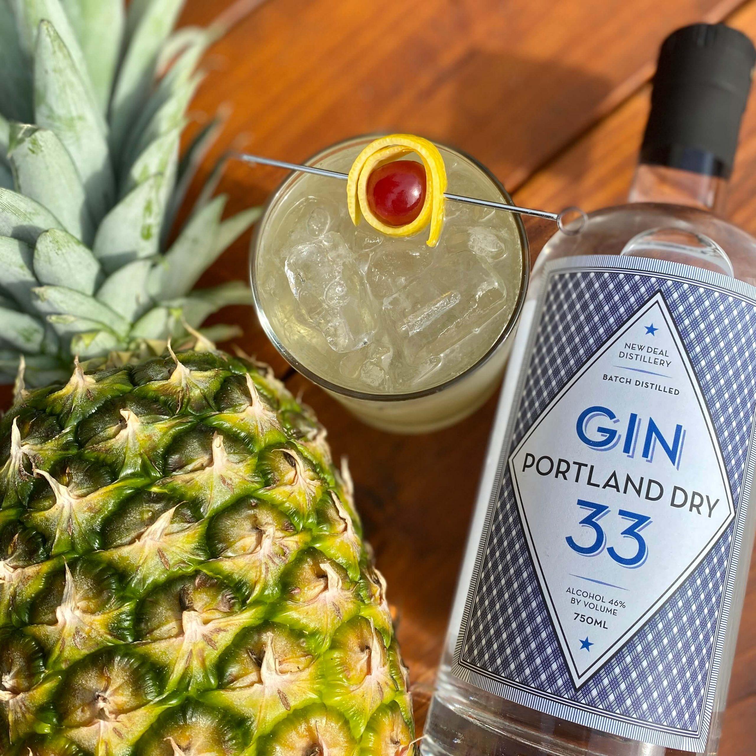 pineapple saturn tropical tiki cocktail