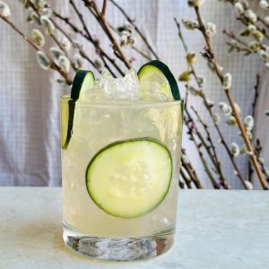 new deal rose parade cucumber gin cocktail