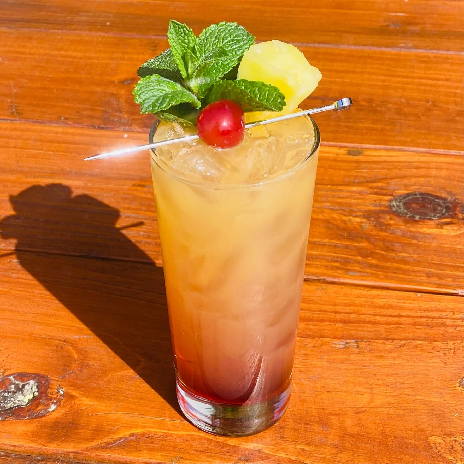 rum swizzle tiki drink