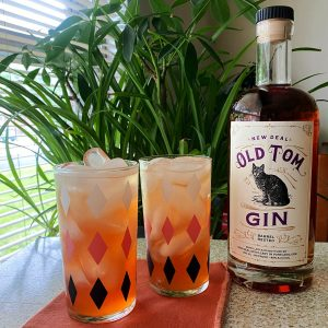 old tom gin and strawberry collins