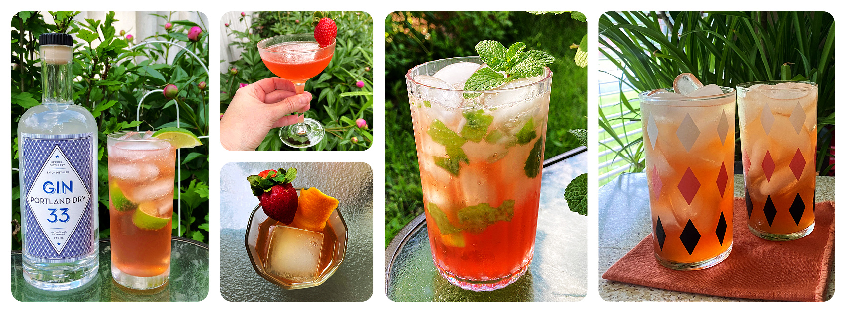 drinks made with strawberry cocktail syrup