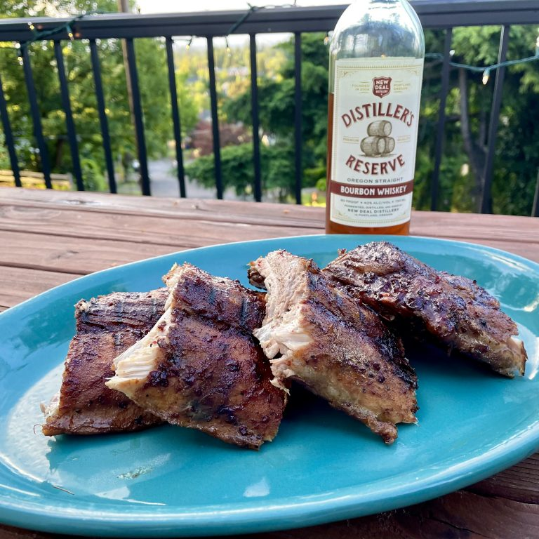 baby back ribs with cherry bourbon bbq sauce