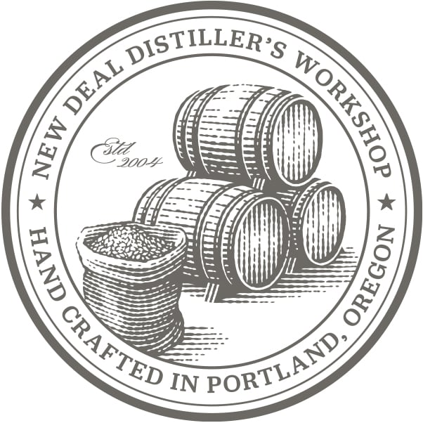 New Deal Bootstrap Whiskey Label