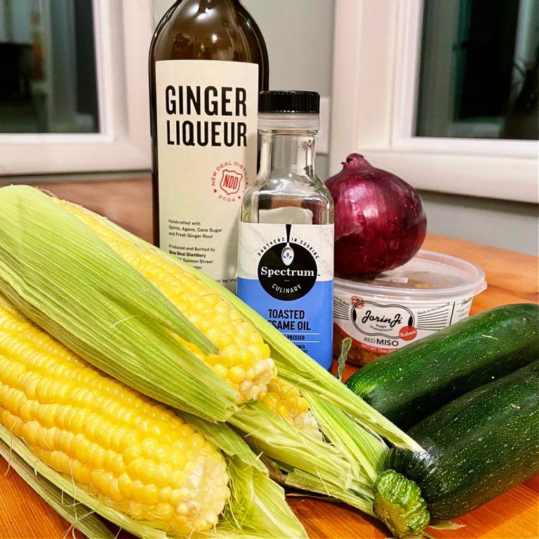 miso ginger liqueur corn recipe