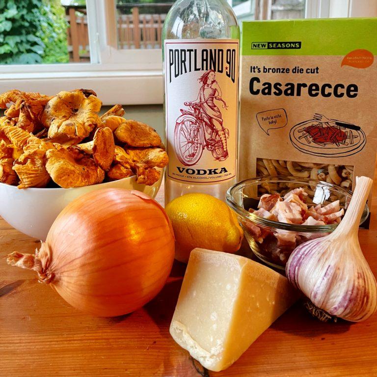 mushroom pasta alla vodka